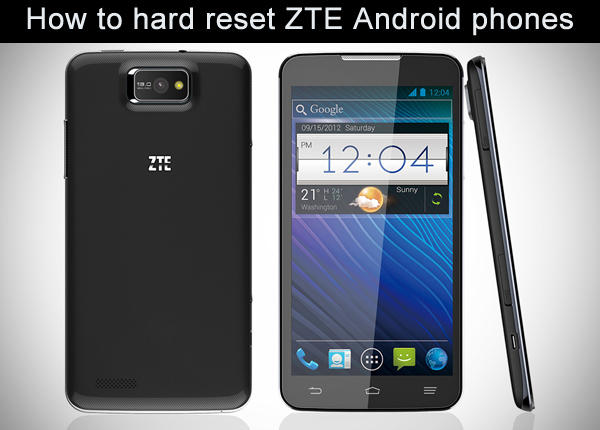 hard reset zte android phones